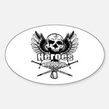 Heroes wear dog tags 3 Decal