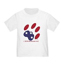 Patriotic Cat Paw of Conservative Cat T-Shirt