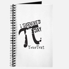 Customize Funny Survived Pi Day Journal
