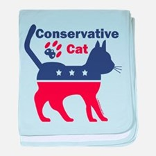 Conservative Cat Intro baby blanket