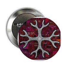 "Haeckel Radiolaria I Red 2.25"" Button"