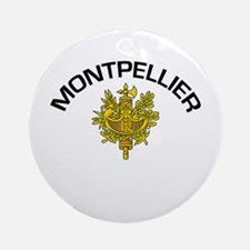 Montpellier, France Ornament (Round)