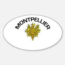Montpellier, France Oval Decal