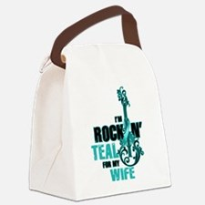 RockinTealFor Wife Canvas Lunch Bag