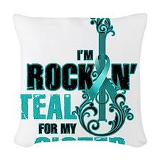 RockinTealFor Sister Woven Throw Pillow