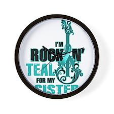 RockinTealFor Sister Wall Clock