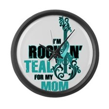 RockinTealFor Mom Large Wall Clock