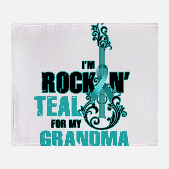 RockinTealFor Grandma Throw Blanket