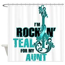 RockinTealFor Aunt Shower Curtain