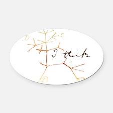 Darwins tree of life: I think Oval Car Magnet