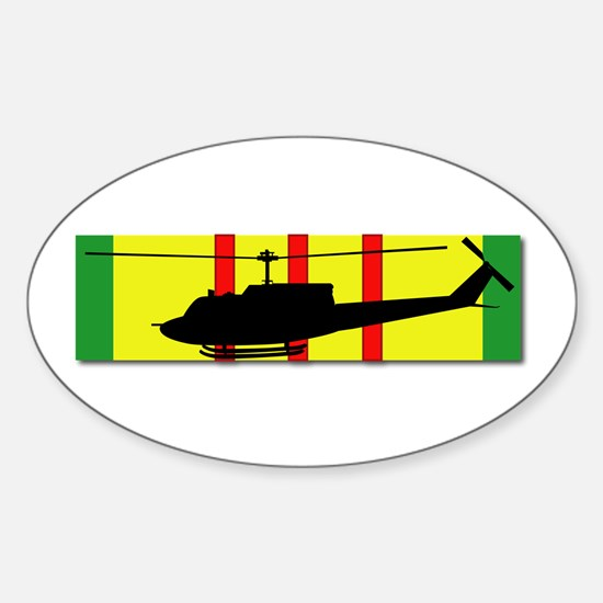 Vietnam - Aviation - Air Assault Sticker (Oval)