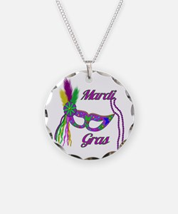 Mardi Gras Beads Mask Necklace