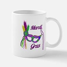 Mardi Gras Beads Mask Mug