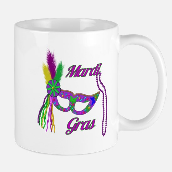 Mardi Gras Beads Mask Mug