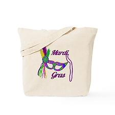 Mardi Gras Beads Mask Tote Bag