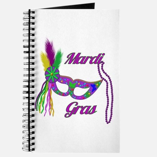Mardi Gras Beads Mask Journal