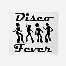 Disco Fever Disco Dancers Throw Blanket