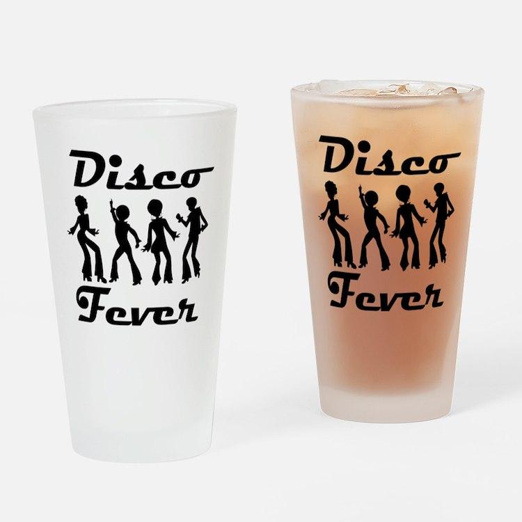 Disco Fever Disco Dancers Drinking Glass