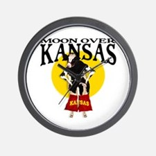 Moon Over Kansas! Wall Clock
