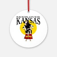 Moon Over Kansas! Ornament (Round)