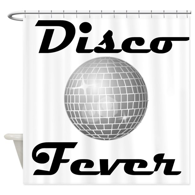 Disco fever disco ball shower curtain by funmusicgifts for Disco ball coloring page