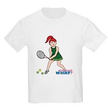 Tennis Player - Light/Red T-Shirt