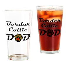 Border Collie Dad Drinking Glass