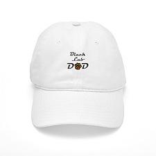 Black Lab Dad Baseball Baseball Cap