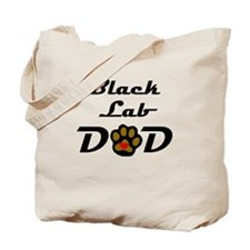 Black Lab Dad Tote Bag