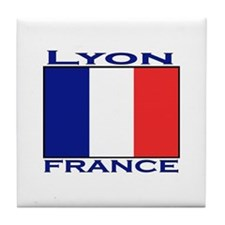 Lyon, France Tile Coaster