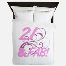 21 And Fabulous (Glitter) Queen Duvet