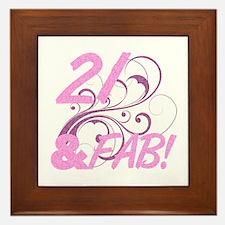 21 And Fabulous (Glitter) Framed Tile