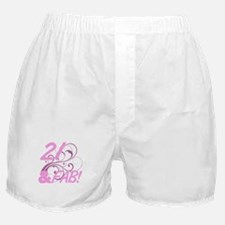21 And Fabulous (Glitter) Boxer Shorts