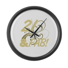 21 And Fabulous (Glitter) Large Wall Clock