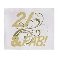 21 And Fabulous (Glitter) Throw Blanket
