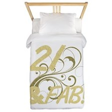 21 And Fabulous (Glitter) Twin Duvet