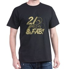 21 And Fabulous (Glitter) T-Shirt