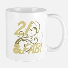 21 And Fabulous (Glitter) Mug