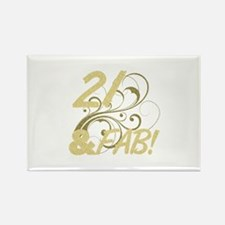 21 And Fabulous (Glitter) Rectangle Magnet