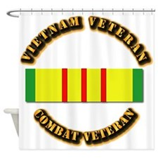Vietnam Veteran - Service Medal Shower Curtain