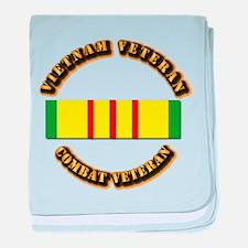 Vietnam Veteran - Service Medal baby blanket