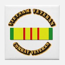 Vietnam Veteran - Service Medal Tile Coaster