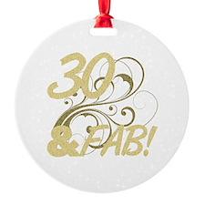 30 And Fabulous (Glitter) Ornament