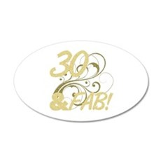 30 And Fabulous (Glitter) Wall Decal