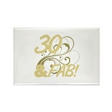 30 And Fabulous (Glitter) Rectangle Magnet