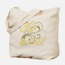 30 And Fabulous (Glitter) Tote Bag