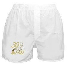 30 And Fabulous (Glitter) Boxer Shorts