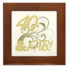 40 And Fabulous (Glitter) Framed Tile