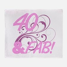 40 And Fabulous (Glitter) Throw Blanket