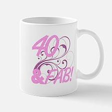 40 And Fabulous (Glitter) Mug